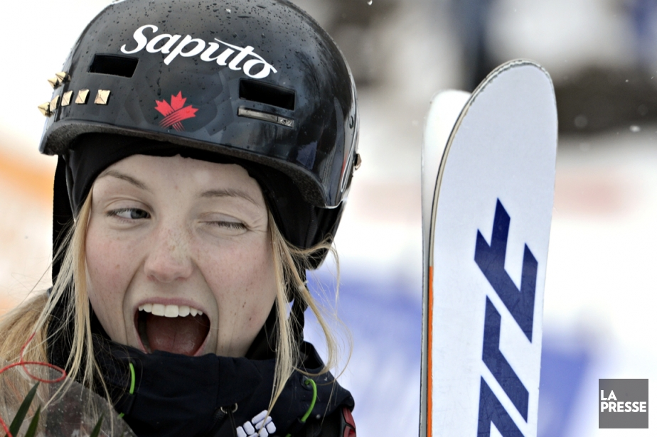 Justine Dufour-Lapointe a servi un clin d'oeil à... (Photo Bernard Brault, La Presse)