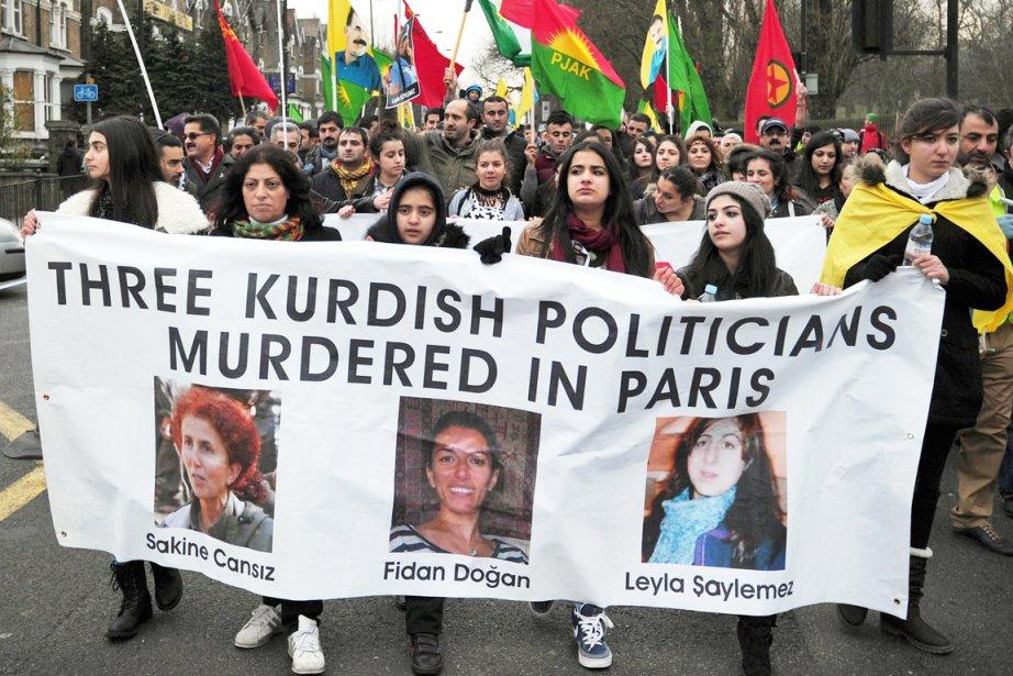 Les trois militantes kurdes avaient été tuées par... (PHOTO CARL COURT, ARCHIVES AFP)