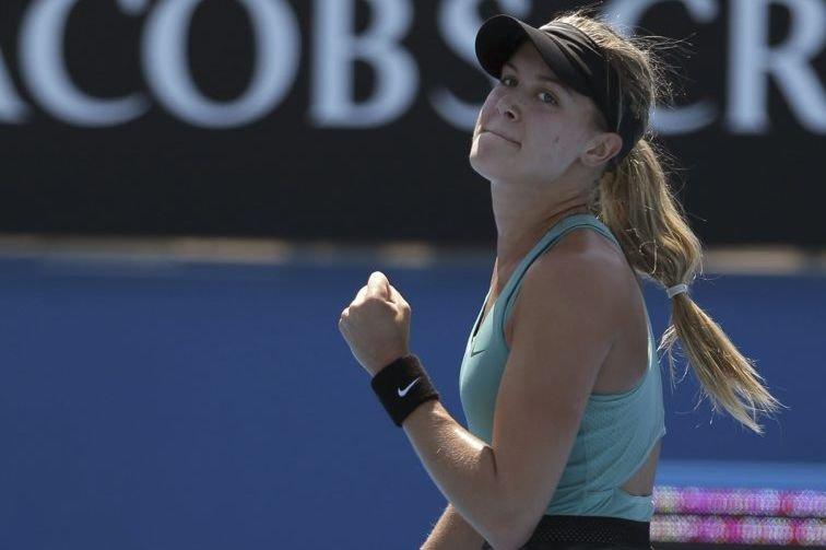 Eugenie Bouchard a eu besoin de seulement 77... (Photo AP)