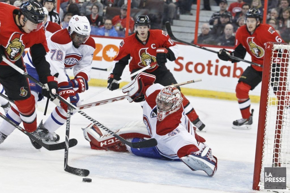 Arret de Carey PriceSenateurs Canadiens2eme periodePATRICK WOODBURY, LeDroit...