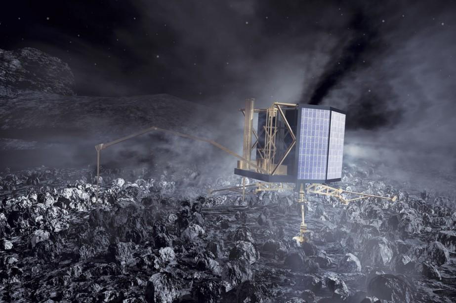 La sonde Rossetta.... (PHOTO FOURNIE PAR L'AGENCE SPATIALE EUROPÉENNE)