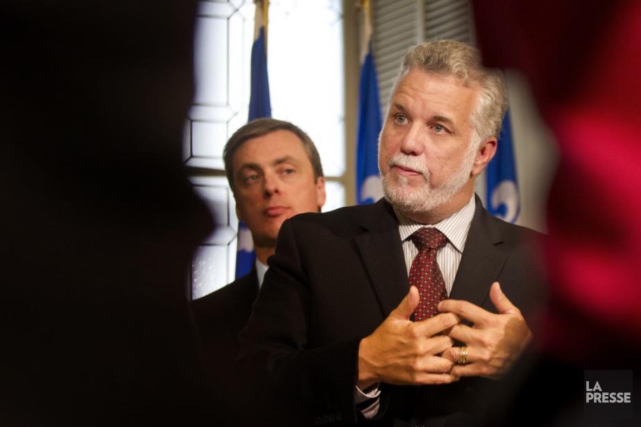 Le chef du PLQ, Philippe Couillard, et le... (PHOTO IVANOH DEMERS, ARCHIVES LA PRESSE)