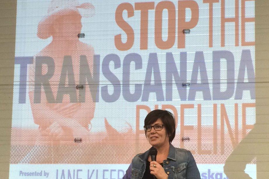 Jane Kleeb, une des militantes, a affirmé que... (Photo Alexander Panetta, La Presse Canadienne)