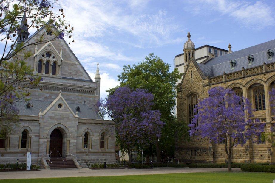 Le campus de l'Université d'Adélaïde est parsemé d'espaces verts. (Photo Audrey Bourget, Collaboration spéciale)