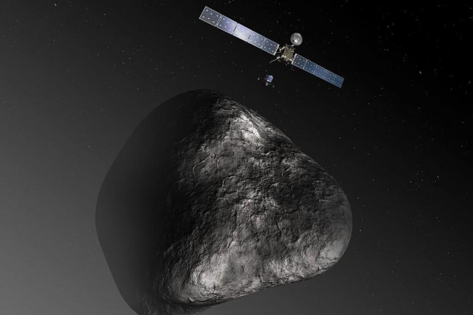 Une illustration de Rosetta fournie parl'agence spatiale européenne.... (PHOTO REUTERS)