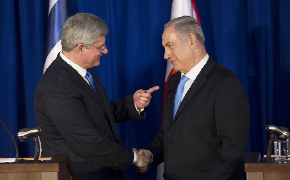 Stephen Harper et Benjamin Netanyahu. (Reuters)