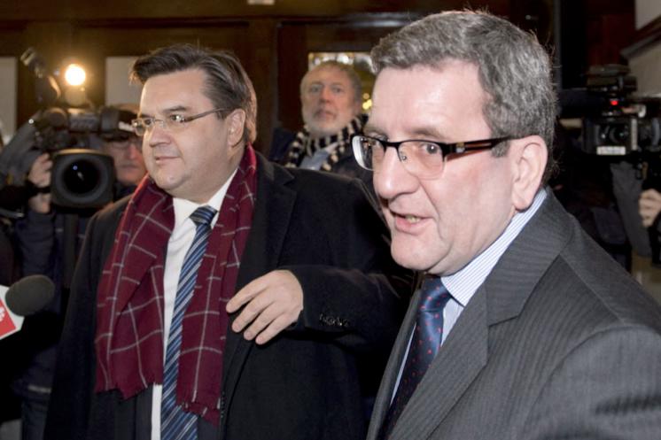 Denis Coderre et Régis Labaume.... (Photo archives La Presse Canadienne)