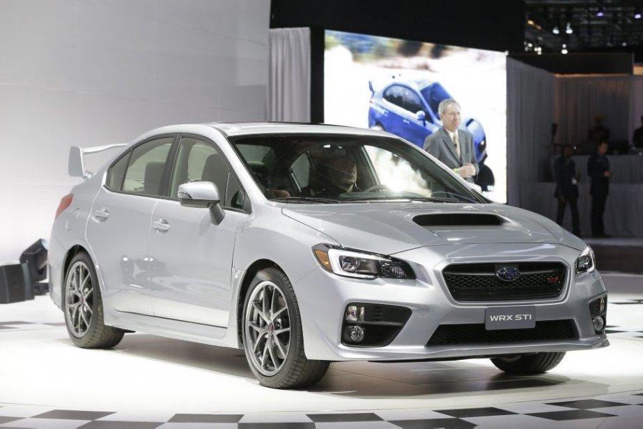 Le nouvelle Subaru STI dévoilée en première mondiale... (Photo Carlos Osorio, AP)