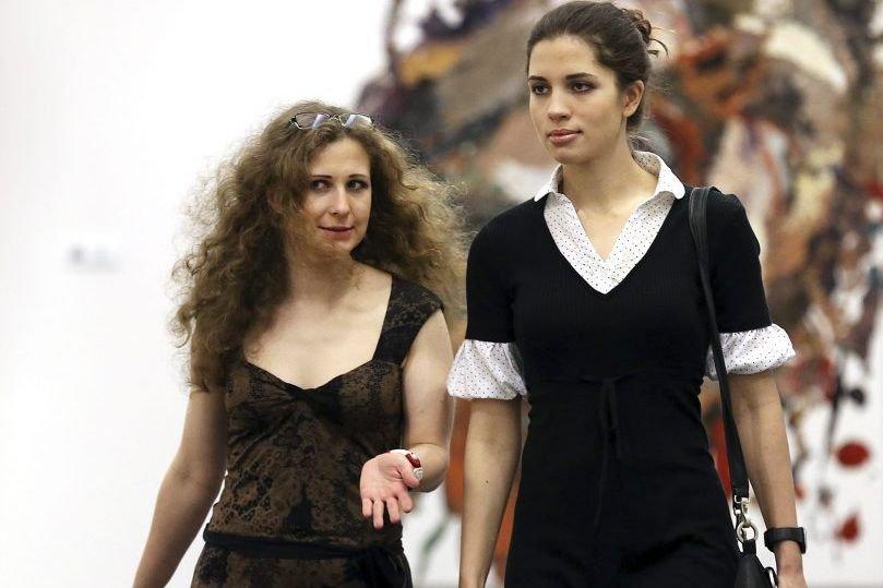 Maria Alekhina et Nadezhda Tolokonnikova... (Photo: archives AP)