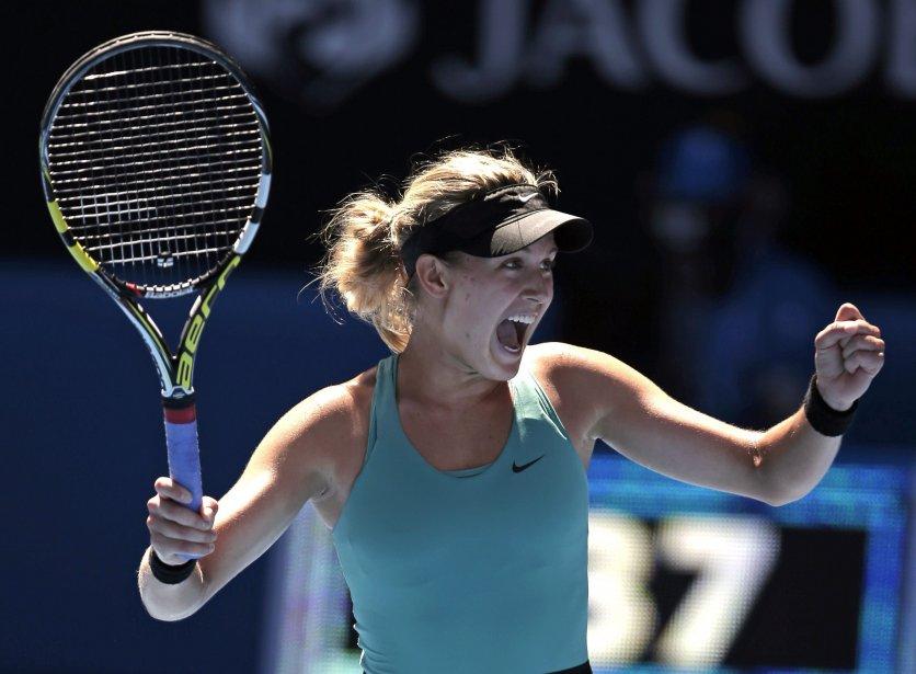 En accédant aux demi-finales des Internationaux d'Australie, Eugenie... (Photo Rick Rycroft, Associated Press)