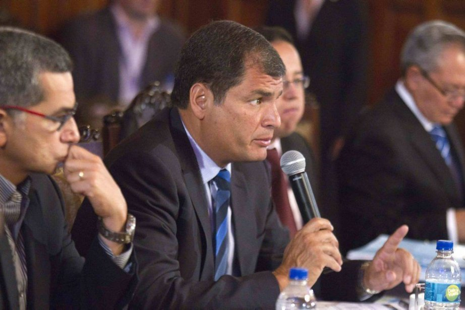 La législation sur la communication du président Rafael... (PHOTO GUILLERMO GRANJA, REUTERS)