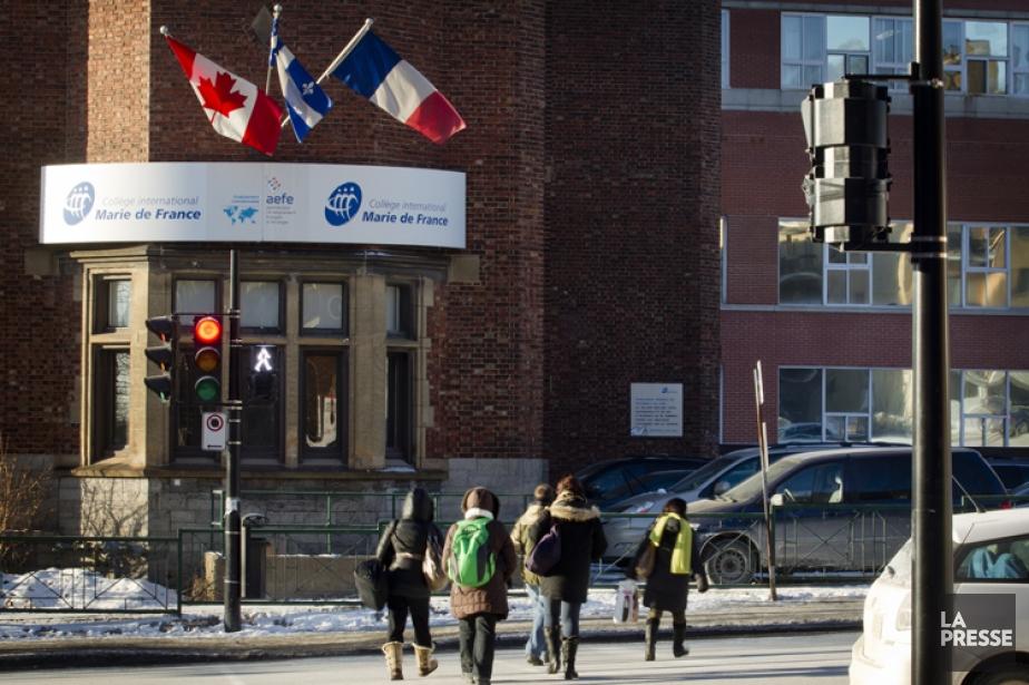 Le Collège international Marie de France, à Montréal,... (Photo: Marco Campanozzi, La Presse)