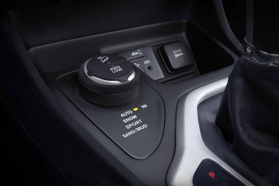 La molette permettant de sélectionner le mode de transmission intégrale voulu. (Photo fournie par Chrysler)