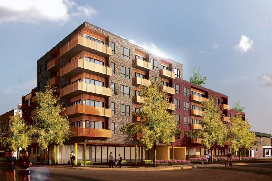 Iberville 99 donne une nouvelle prestance à cette section de la rue des Carrières et contribuera à la revitalisation du quartier. (ILLUSTRATION FOURNIE PAR Z COMMUNICATIONS)