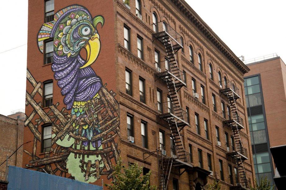 Plusieurs murales d'artistes latinos ont été peintes dans l'El Barrio.  Une initiative du El Museo del Barrio.  Cette murale a été réalisée par RIM X. (Photo David Boily, La Presse)