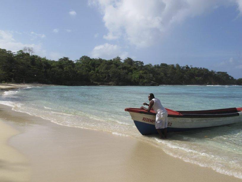 Winnifred Beach, la plage fréquentée par les Jamaïcains. (Photo Violaine Ballivy, La Presse)
