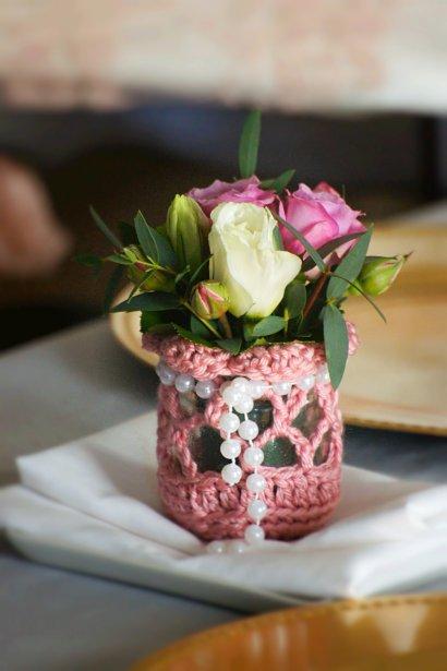 Les invités sont repartis avec un petit panier de fleurs confectionné à la main par Aurore. (PhotoVicky Photographie, fournie par les mariés)