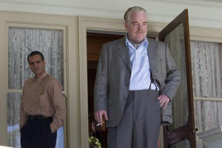 Joaquin Phoenix et Philip Seymour Hoffman dans une scène du film «The Master» de Paul Thomas Anderson. (Photo: fournie par The Weinstein Company)