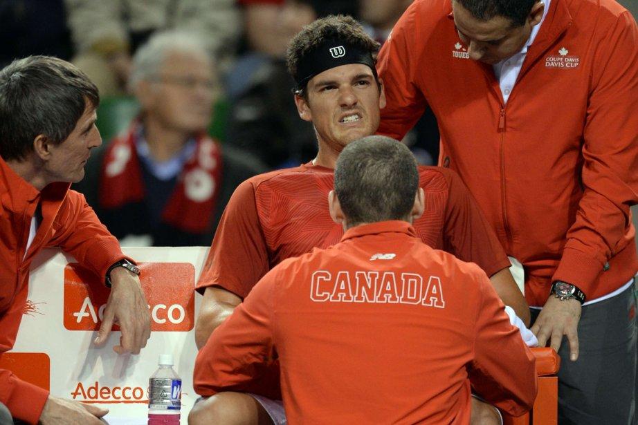 Blessé, le Canadien Frank Dancevic a dû abandonner... (Photo Toshifumi Kitamura, AFP)
