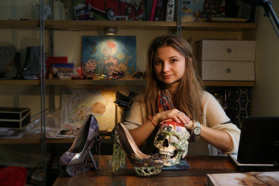Anastasia Radevich voit dans la chaussure un moyen d'exprimer sa réflexion sur la mode. (Photo Martin Chamberland, La Presse)
