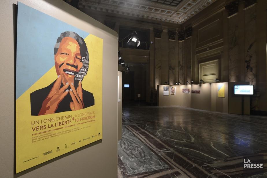 L'exposition Un long chemin vers la liberté est... (Photo Bernard Brault, La Presse)