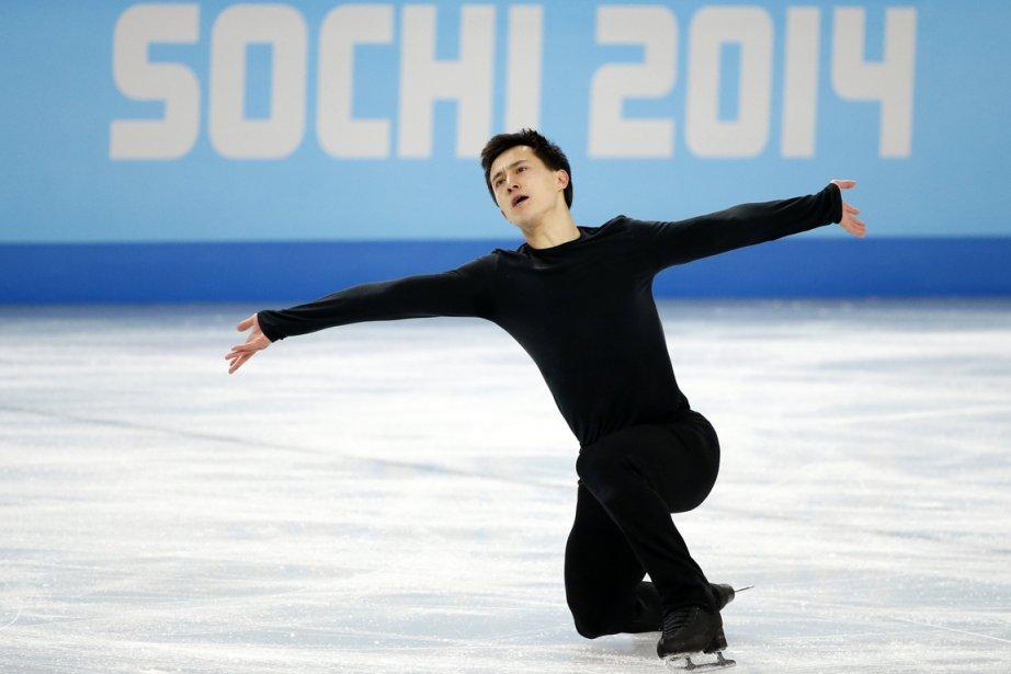Le Canadien Patrick Chan s'est entraîné mercredi en... (Photo Lucy Nicholson, Reuters)