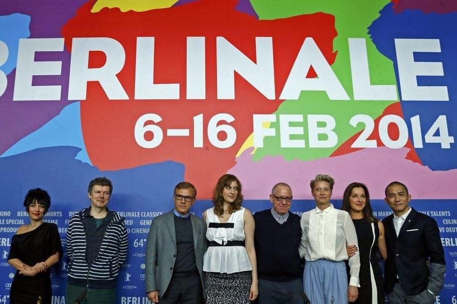 Jeudi 6 février : Les membres du jury de la 64e Berlinale: Mitra Farahani, Michel Gondry, Christoph Waltz, Greta Gerwig, James Schamus, Trine Dyrholm, Barbara Broccoli et Tony Leung. (Photo: Reuters)