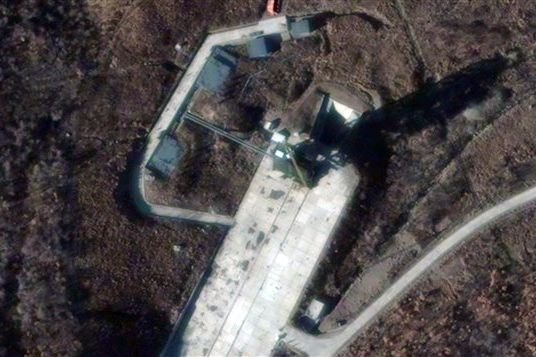 Image satellite du site de lancement Sohae en... (Photo AFP)