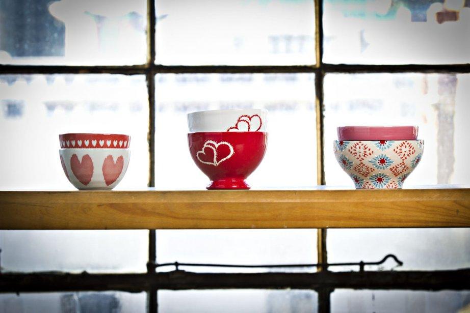 Bols à café au lait (Photo Olivier Jean, La Presse)