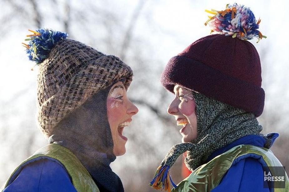 Deux animatrices de la fête des Neiges de... (Photo Robert Skinner, La Presse)