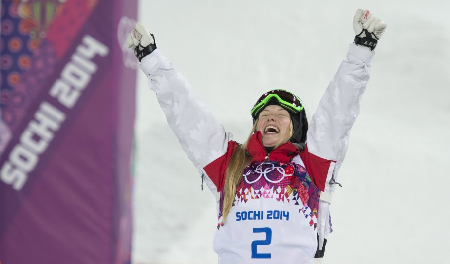 La médaillée d'or, Justine Dufour-Lapointe. | 8 février 2014