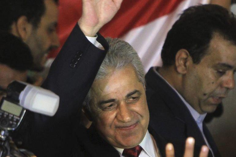 Hamdeen Sabbahi est la première personnalité politique de... (PHOTO MAHMUD HAMS, AFP)