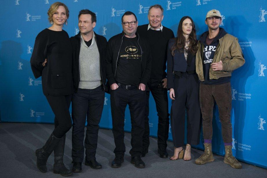 (De gauche à droite) Uma Thurman, Christian Slater,... (Photo: AFP)