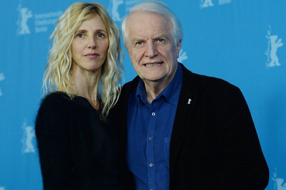 Lundi 10 février 2014 : Les acteurs Sandrine Kiberlain et André Dussollier étaient présents à la Berlinale pour accompagner le film Aimer, boire et chanter d'Alain Resnais. (Photo: AFP)