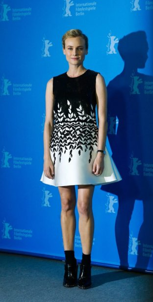 Lundi 10 février 2014 : Diane Kruger a fait la promotion du film «The Better Angels». (Photo: Reuters)