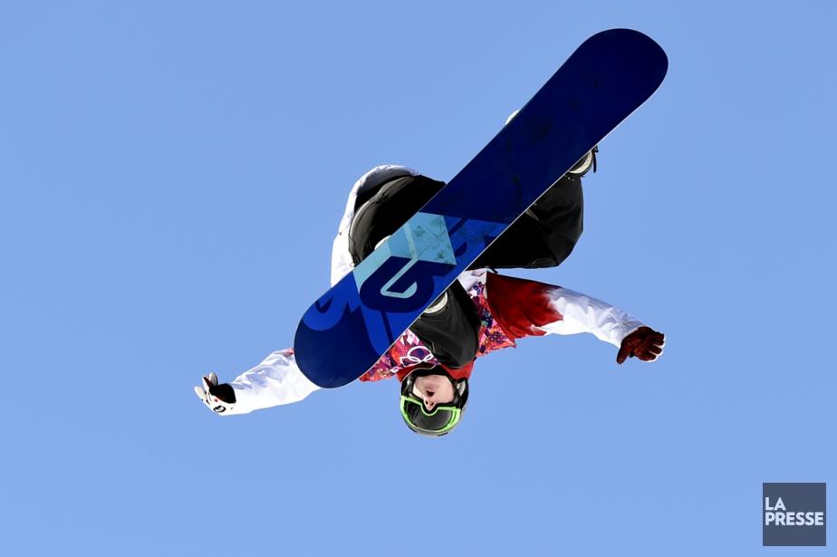 Les jeunes casse-cous du slopestyle (ici Maxence Parrot)... (PHOTO BERNARD BRAULT, ARCHIVES LA PRESSE)