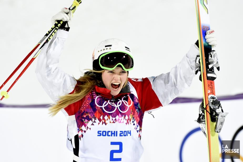 La skieuse Justine Dufour-Lapointe, première médaillée d'or canadienne... (Photo Bernard Brault, La Presse)