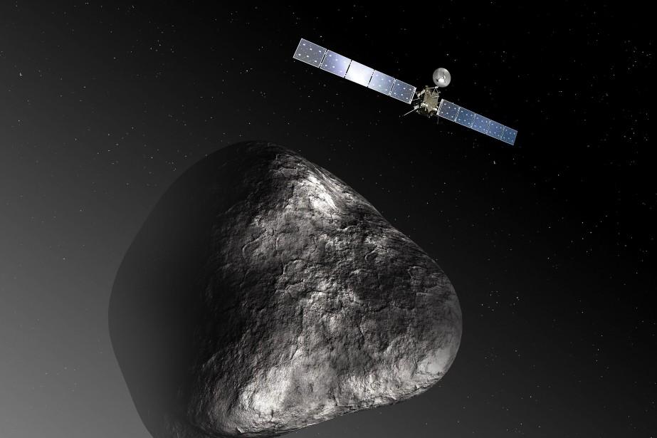 Représentation de la sonde spatiale Solar Orbiter... (PHOTO C. CARREAU / MEDIALAB, ARCHIVES AFP)