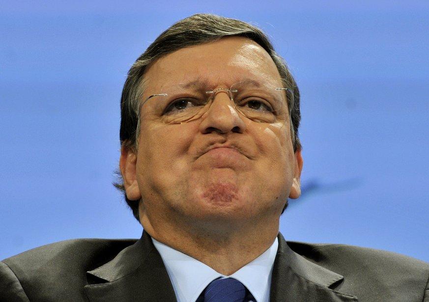 Le président de la Commission européenne,José Manuel Barroso... (Photo José Manuel Barroso, AFP)