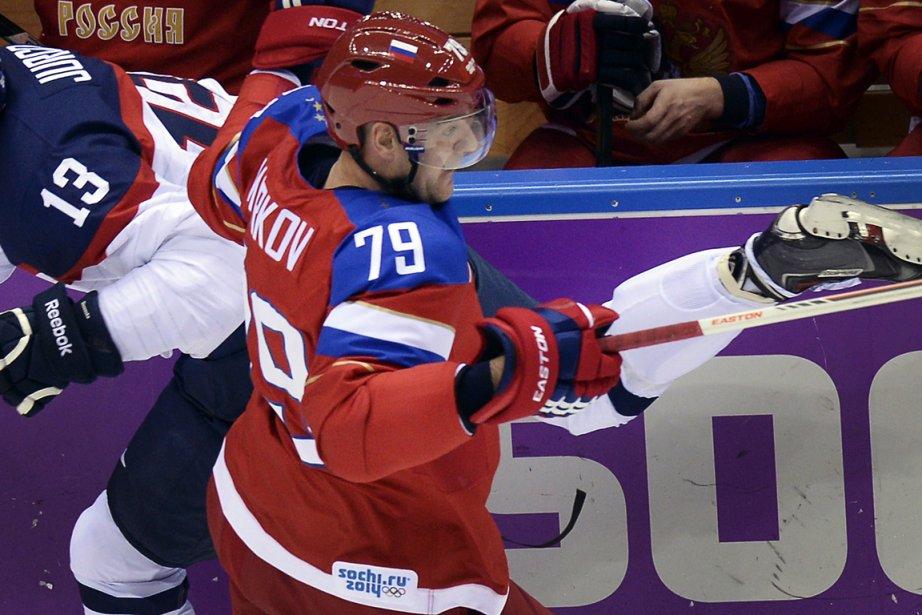 Andrei Markov a été le défenseur russe le... (Photo Alexander Nemenov, AFP)