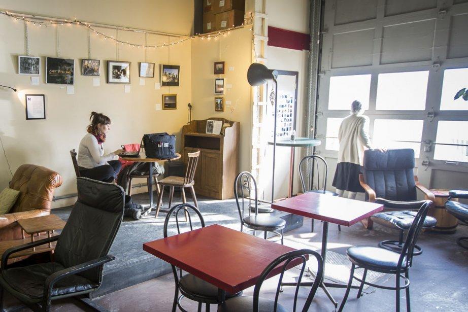 Le café Happy Goat. (Photo Olivier Pontbriand, La Presse)