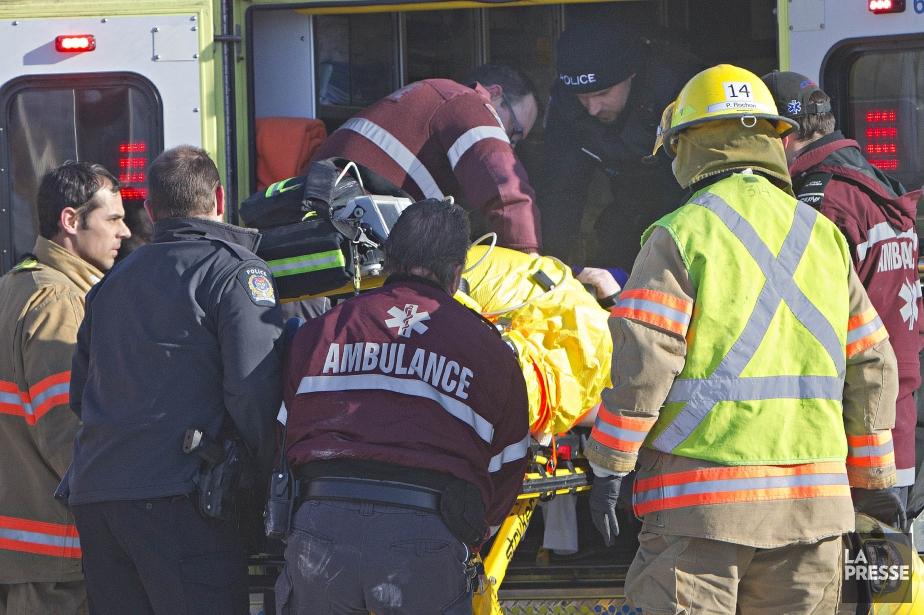 L'accident s'était produit aux environs de 9h, à... (Photo Patrick Sanfaçon, Archives La Presse)