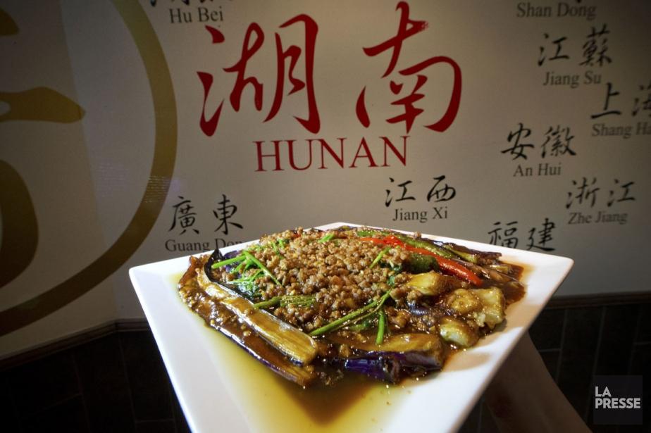 L'assiette d'aubergines chinoises et de poivrons façon Dongbei,... (PHOTO IVANOH DEMERS, LA PRESSE)