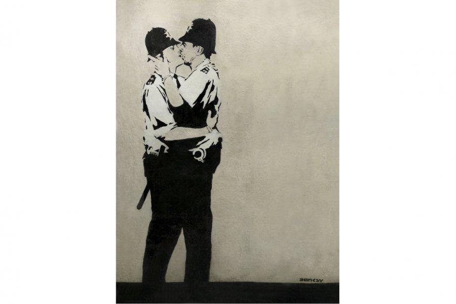 Une oeuvre de l'artiste-graffiteur britannique Banksy s'est... (Photo: AP)
