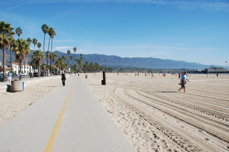 La plage de Santa Barbara est très tranquille hors saison. (Photo Stéphanie Bérubé, Archives La Presse)