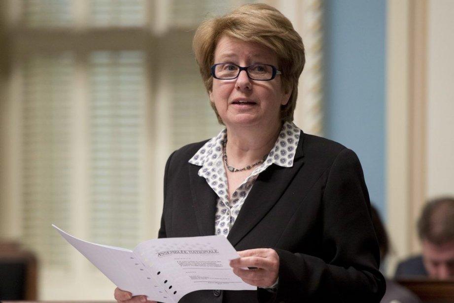Présenté par la ministre du Travail, Agnès Maltais,... (Photo Jacques Boissinot, PC)