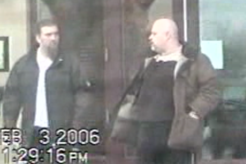 Salvataore Cazzeta (à gauche) et Sergio Piccirilli filmés... (Photo fournie par la police)