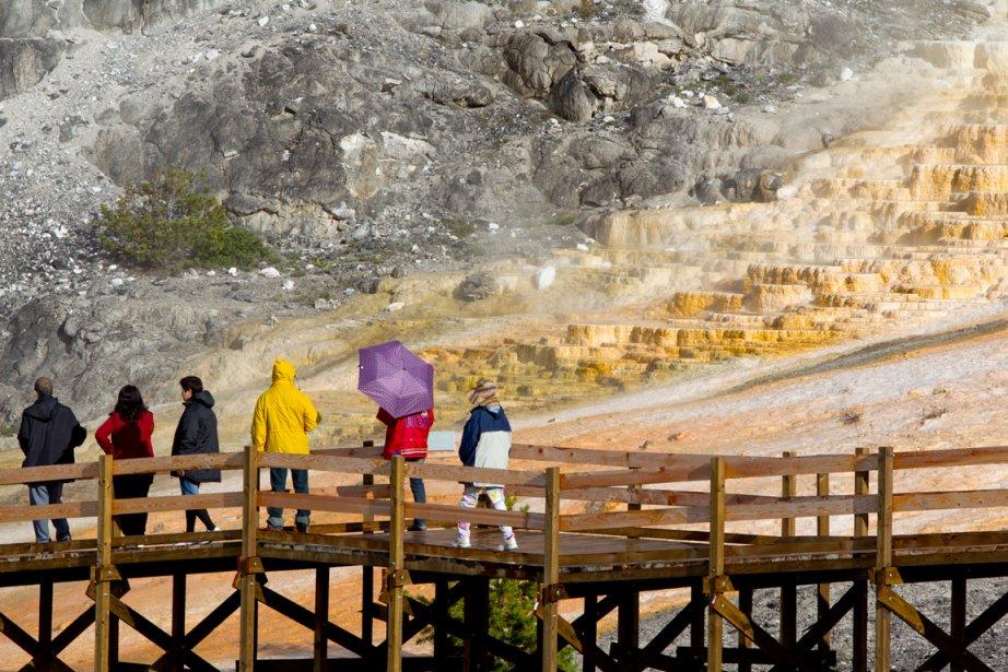 Fait étonnant: peu de gens quittent les sentiers qui mènent du stationnement à une attraction pour faire de la randonnée. Dommage. (Photo Alain Roberge, La Presse)