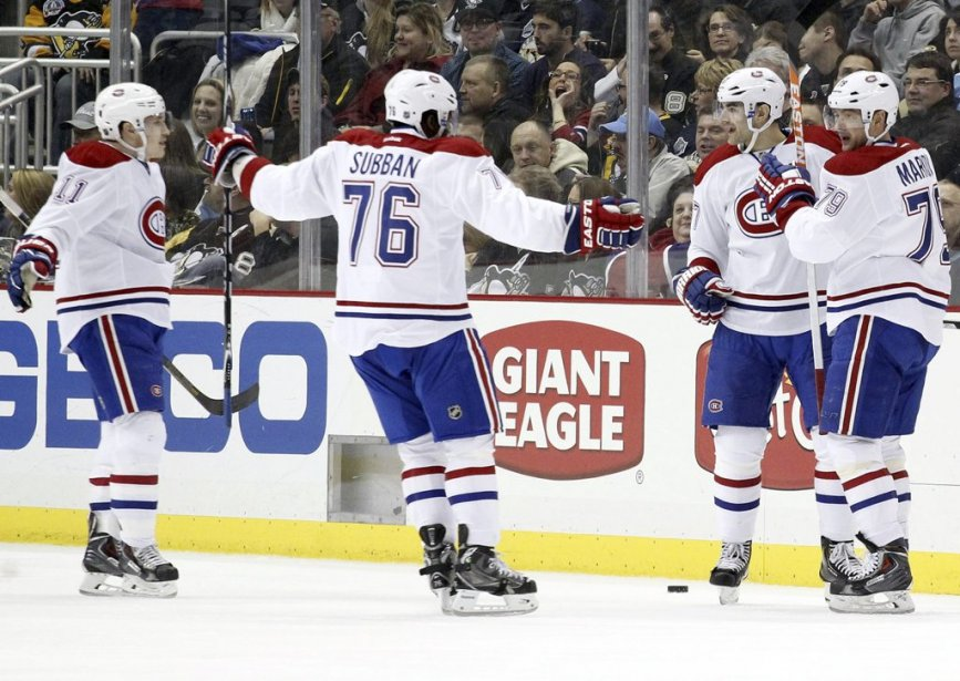 Le Canadien aussi a eu l'occasion de déborder de joie en trouvant le fond du filet. (Photo USA TODAY Sports)