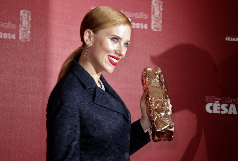 Un César d'honneur a été remis à l'actrice américaine Scarlett Johansson. (Photo AFP)